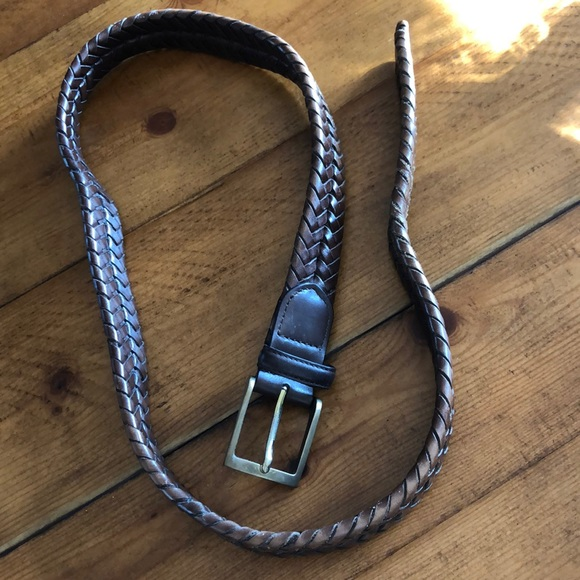 Brooks Brothers Other - Brooks brothers leather braided belt in size 36